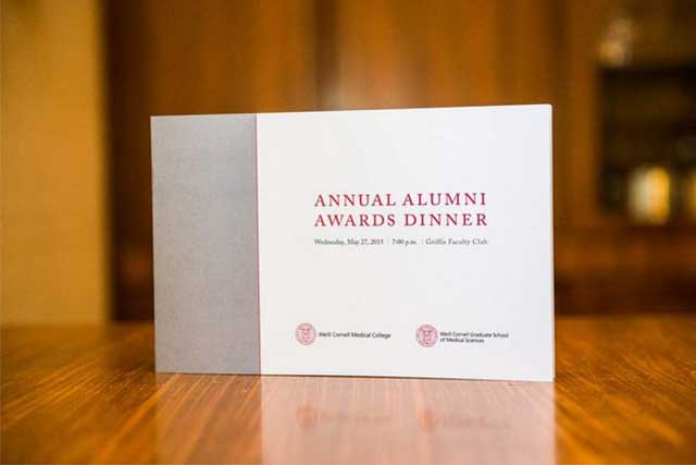 Weill Cornell Alumni Award of Distinction Dinner