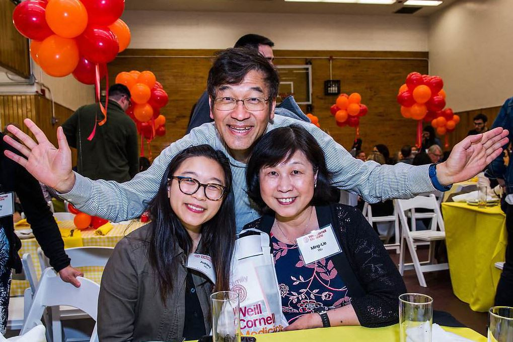 A MD student with her parents at Family Day 2018