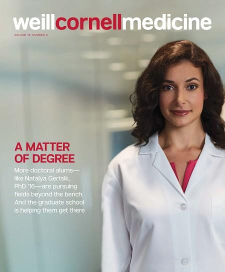 Weill Cornell Medicine magazine cover