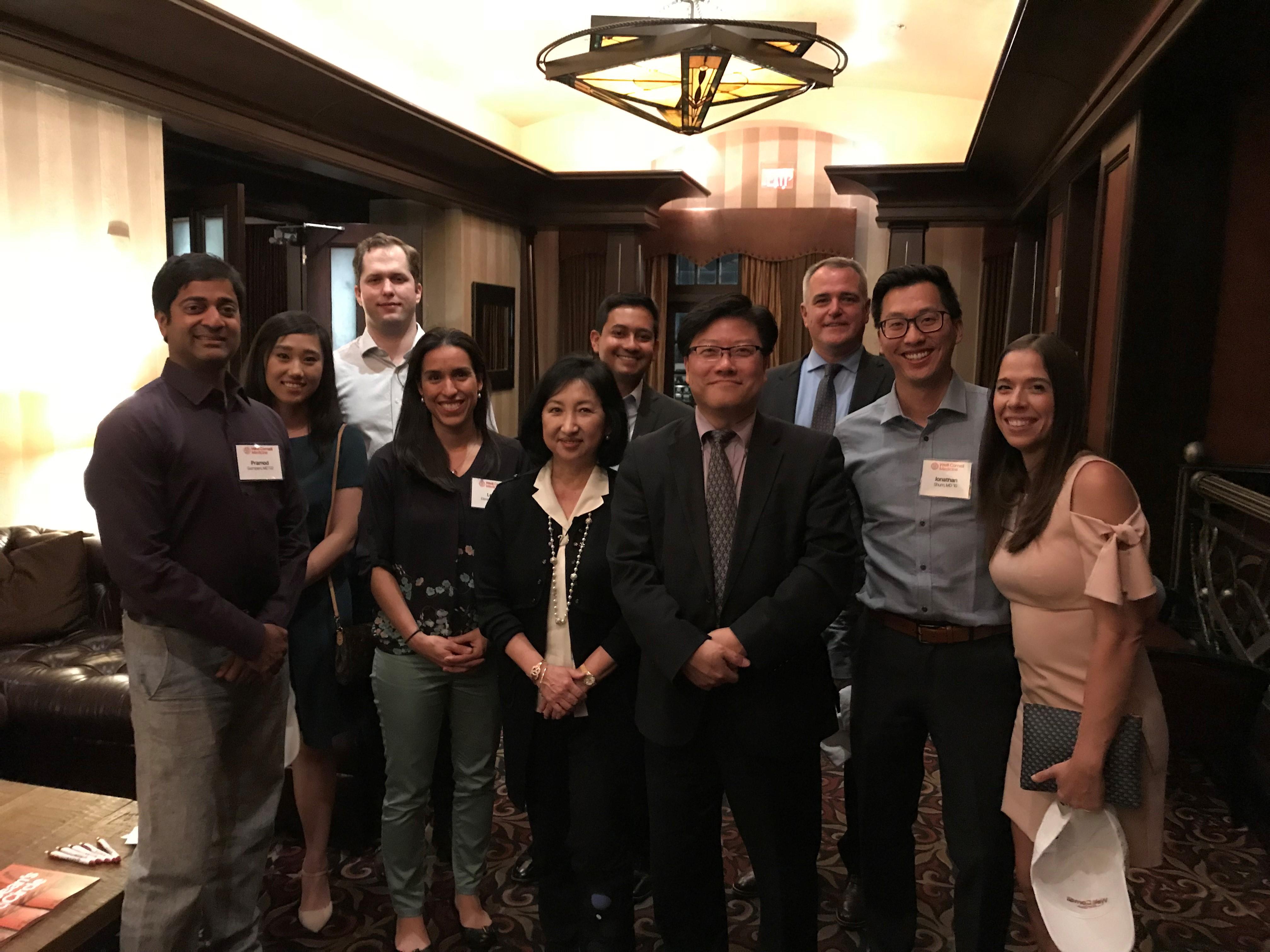 alumni at event in Houston