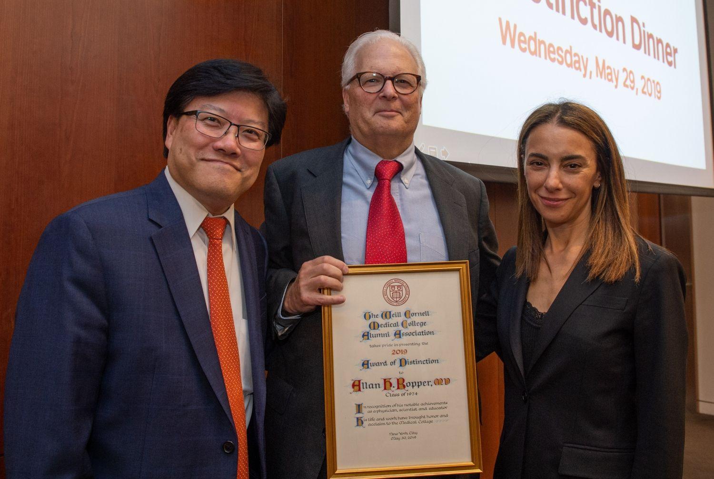 Allan H. Ropper, MD '74, Dean Augustine M.K. Choi, MD, Natasha I. Leibel, MD '98