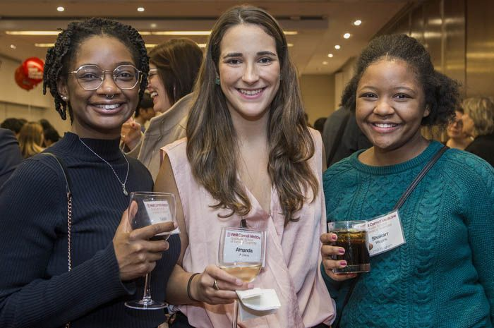 Students at a Networking Event