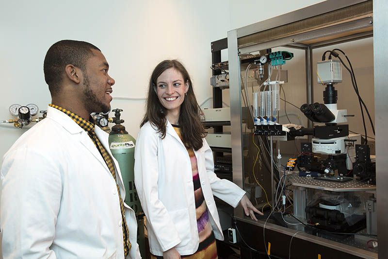 WCGS Students in the lab
